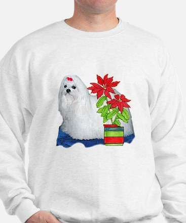 Maltese Christmas Sweatshirt
