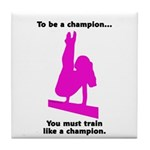 Gymnastics Tile Coaster - Champion