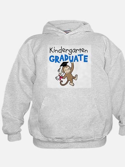 Kindergarten Graduate - Monkey (Blue) Hoodie