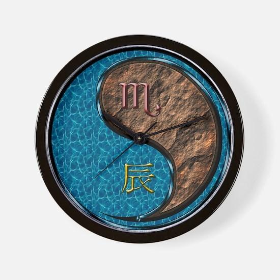 Scorpio & Earth Dragon Wall Clock