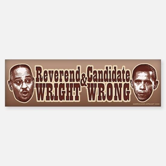 Candidate Wrong Bumper Bumper Bumper Sticker