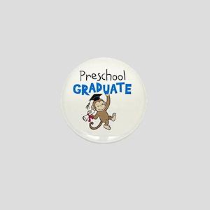 Preschool Graduate - Monkey (Blue) Mini Button