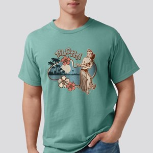 Aloha Hula Girl Mens Comfort Colors Shirt T-Shirt