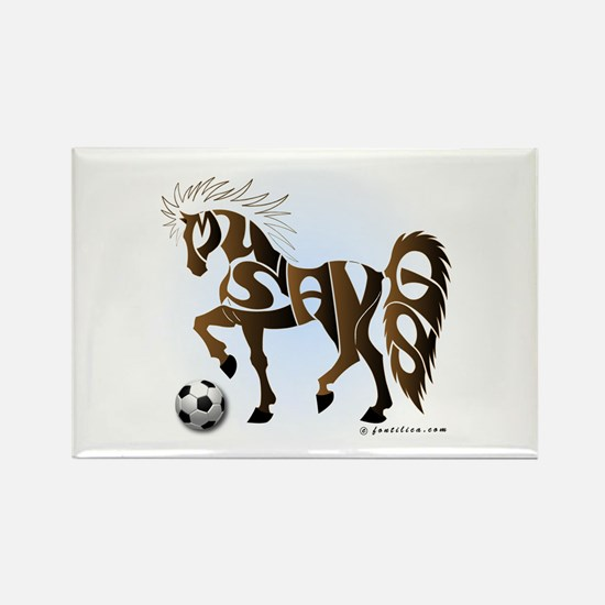 Mustangs (Brown) Rectangle Magnet
