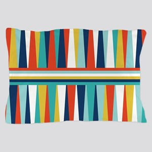Colorful Triangles Design Pillow Case