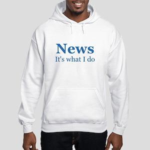 Newscaster Hooded Sweatshirt