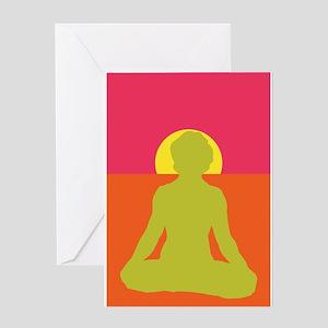 Lotus Yoga Greeting Card