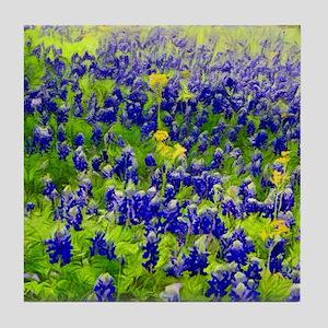 Hillside Bluebonnets Tile Coaster