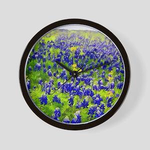Hillside Bluebonnets Wall Clock