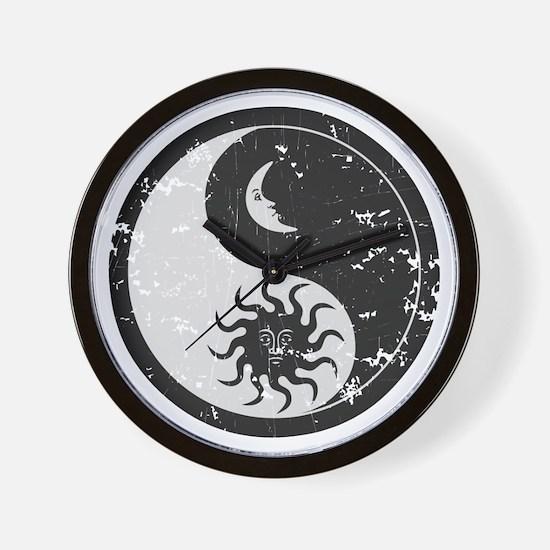 Sun Moon Wall Clock