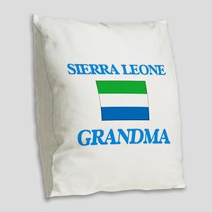 Sierra Leone Grandma Burlap Throw Pillow
