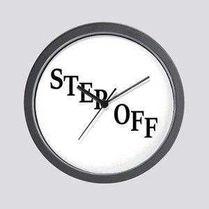 Inspiration quote - step off Wall Clock