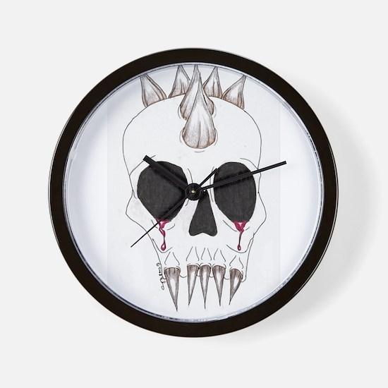 Spike Skull Wall Clock