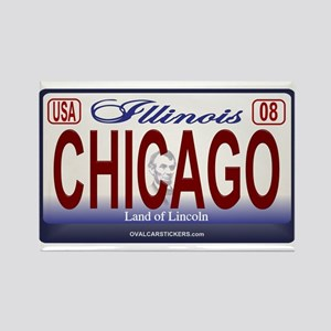 Chicago License Plate Rectangle Magnet