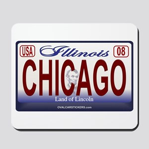 Chicago License Plate Mousepad