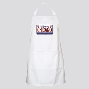 Chicago License Plate BBQ Apron