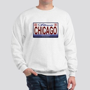 Chicago License Plate Sweatshirt