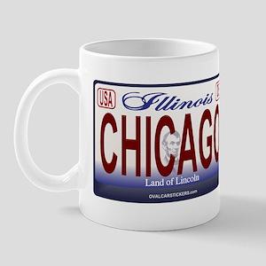 Chicago License Plate Mug
