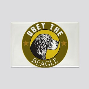 Obey The Beagle Rectangle Magnet