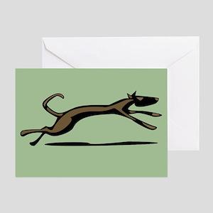 Hound Dog Unleashed Greeting Card