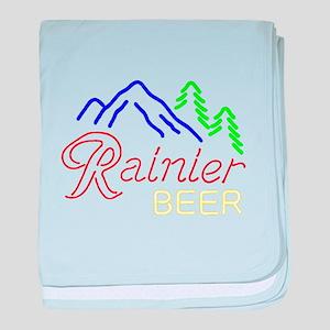 Rainier neon sign 1 baby blanket