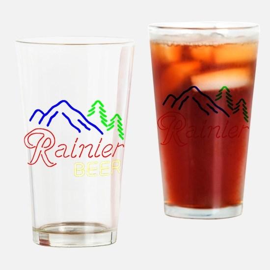 Rainier neon sign 1 Drinking Glass