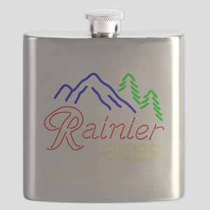Rainier neon sign 1 Flask