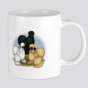 Silkie Chicken Trio Mugs