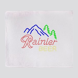 Rainier neon sign 1 Throw Blanket