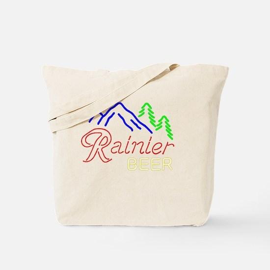 Rainier neon sign 1 Tote Bag