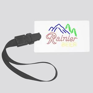 Rainier neon sign 1 Large Luggage Tag