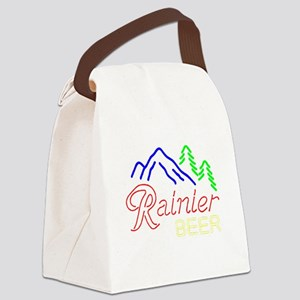 Rainier neon sign 1 Canvas Lunch Bag