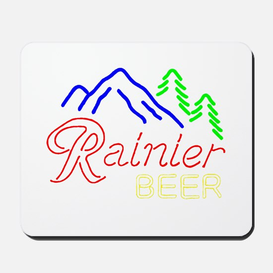 Rainier neon sign 1 Mousepad