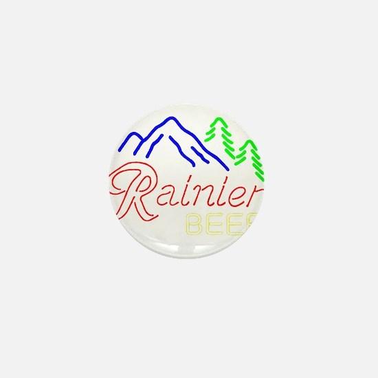 Rainier neon sign 1 Mini Button