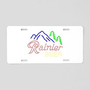 Rainier neon sign 1 Aluminum License Plate