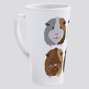 Four little guinea pigs 17 oz Latte Mug