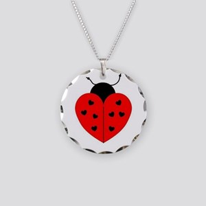 LADY BUG HEART Necklace