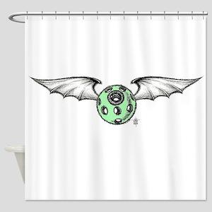 Flying eye-batwings Shower Curtain
