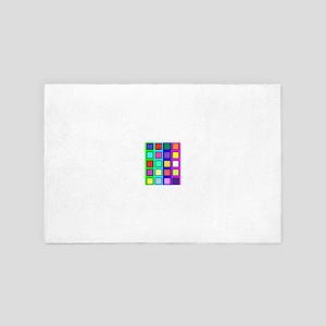 Colored blocks 5 4' x 6' Rug