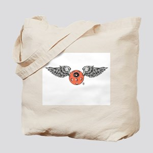 Flying eye dove wing Tote Bag