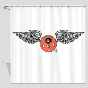 Flying eye dove wing Shower Curtain