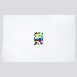 Color is art 4' x 6' Rug