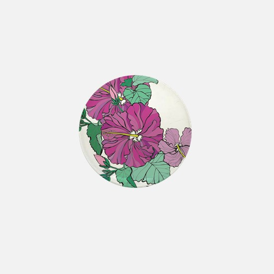 Hibiscus Mini Button