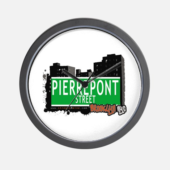 PIERREPONT STREET, BROOKLYN, NYC Wall Clock