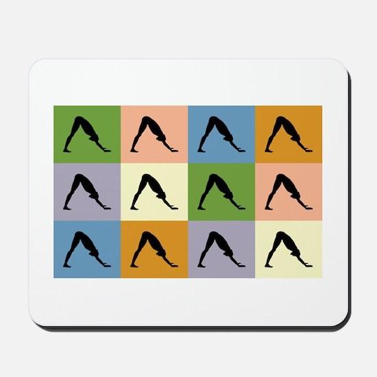 Downward Dog Yoga Mousepad