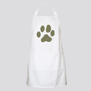 Smiley Dog Paw Print BBQ Apron