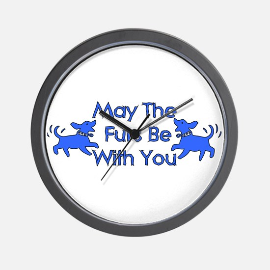 May The Furs Be With You Wall Clock