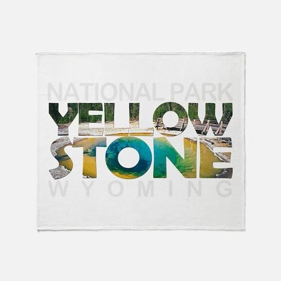 Yellowstone - Wyoming, Montana, Idah Throw Blanket