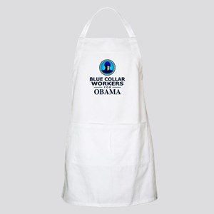 Blue Collar Workers for Obama BBQ Apron