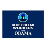 Blue Collar Workers for Obama Postcards (Package o